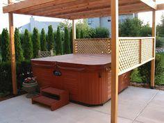 The Broke Homeowners - Home Improvement Projects: Hot tub pergola