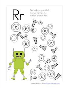 Robot Preschool Pack Part 2 letter find Preschool Letters, Preschool Themes, Preschool Printables, Preschool Kindergarten, Prek Literacy, Preschool Lessons, Preschool Worksheets, Robot Classroom, Classroom Themes