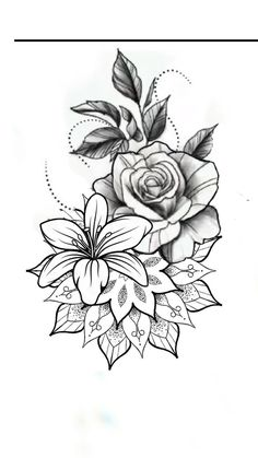 Mandala Flower Tattoos, Flower Tattoo Drawings, Flower Thigh Tattoos, Girl Arm Tattoos, Mandala Tattoo Design, Flower Tattoo Designs, Cute Tattoos, Leg Tattoos, Body Art Tattoos