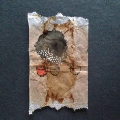 363 days of tea. Day 195. #recycled #teabag #art www.rubysilvious.com