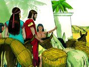 Free Bible illustrations at Free Bible images of Abram (later called Abraham) being called by God to move to the land of Canaan and his later trip to Egypt when famine hit the land. (Genesis 11:27 - 13:4)