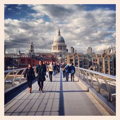 Millennium Bridge in London, Greater London