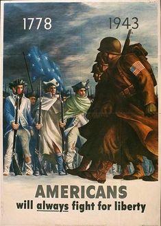 Americans will always fight... US Office of War Information Bernard Perlin 1943