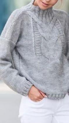 Chunky Oversized Sweater, Cute Clothes For Women, Knitwear Fashion, Knitted Gloves, Plus Size Womens Clothing, Knitting Designs, Knit Patterns, Autumn Winter Fashion, Knit Crochet