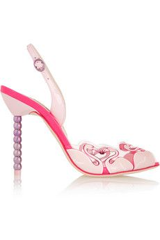 Sophia Webster Flamingo patent leather sandals
