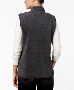 Karen Scott Zeroproof Fleece Vest, Created for Macy's - Purple XXL