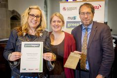 Here are Joanne and Amy accepting the Green Impact Silver award - well done!