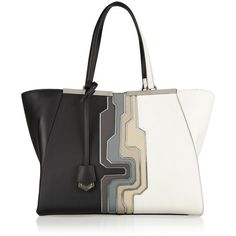 Fendi 2Jours large leather shopper found on Polyvore