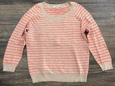 Madewell Sweatshirt Sweater In Stripe Quarter Sleeve Womens Sz S*  | eBay