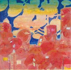 Original Landscape Painting by Chisato Yamada Sam Francis, Original Art, Original Paintings, Japan Painting, Magic Hour, List Of Artists, Acrylic Colors, After Dark, Landscape Paintings