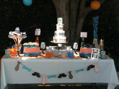 Little Man baby shower by Diaper Treats----- love the garland