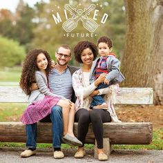 Interracial couple with biracial children. Family love. Love.