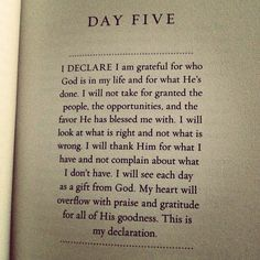 i need to read this EVERY morning.