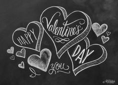 Valentines Card Happy Valentine's Day Hand by LilyandVal on Etsy