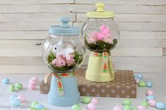 Spring Bunnies DIY Gumball Machine Craft