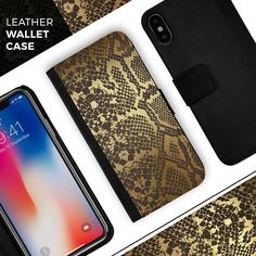 Items similar to Dark Gold Flaked Animal - Leather Folding Wallet Case For the Apple iPhone and Samsung Galaxy Devices on Etsy Phone Cases, Wallet, Gold, Leather, Handmade, Etsy, Hand Made, Purses, Diy Wallet