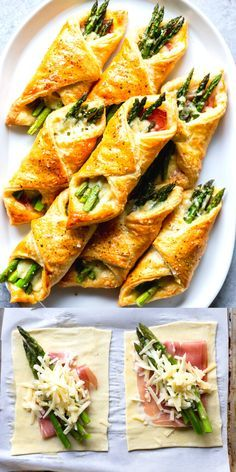 Prosciutto asparagus puff pastry bundles appetizer dinner ideas appetizer asparagus bundles dinner dinnerideas ideas pastry prosciutto puff schweinefilet in curry sahne Elegant Appetizers, Appetizer Dinner, Brunch Appetizers, Appetizer Ideas, Dinner Menu, Brunch Party Foods, Appetizers For Summer, Appetizers With Meat, Party Appetizer Recipes