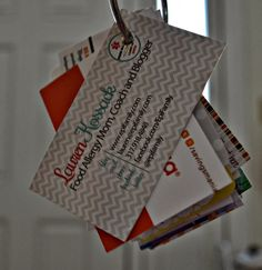 Organizing Business Cards from Blog Conferences