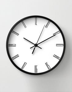 Tall numbers wall clock, minimalist decoration, classic wall clocks, black numbers, unique wall clock