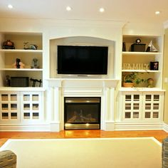 Decor By Jennifer Inc Traditional Family Room Toronto Brouwer Design Memori Jackson Built In Cabinets For Living