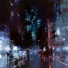 Джереми Манн: городские пейзажи на картинах маслом в стиле современного импрессионизма