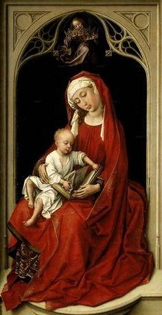 Madonna de rojo.