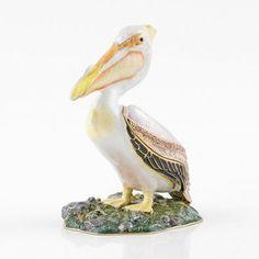 Jeweled Pelican Trinket Box