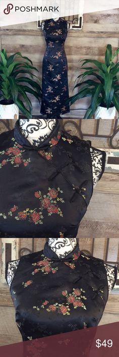 0cbd54a9b42 Robbie Bee Oriental Geisha Style Maxi Dress