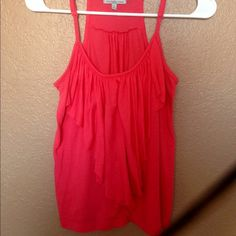 Reddish coral tank Layered, adjustable straps. Open to negotiations and bundle pricing discounts! Basket Charlotte Russe Tops Tank Tops