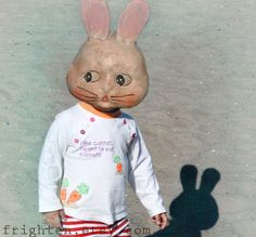 Rabbit Mask Digital Collage Print I Like Carrot 8x10 by frighten, $25.00