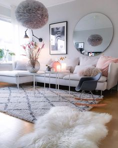 2,614 Likes, 49 Comments   Sarah Stråth ღ (@interiorbysarahstrath) On  Instagram: · Mirror Decor Living RoomBlush ...