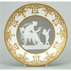 A Minton pate-sur-pate plate decorated by Alboin Birks - C.1911