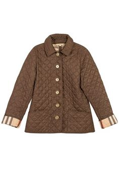 Burberry Brit - Brown Quilted Light Jacket Shop it here: www.starbags.eu