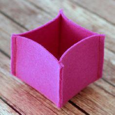 10 Minute DIY Felt Boxes