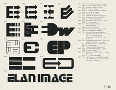 Eric Carl    Collection of vintage logos from a mid-70's edition of the book World of Logotypes    jpg (1607×1256)    Logos