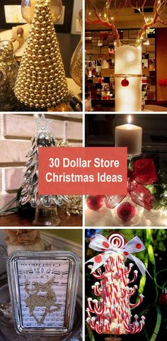 30 Dollar Store Christmas Ideas 2017 The festive season is almost here, and home decoration is on top of your things-to-do list. But, you do not always have to spend a fortune to give your home that pleasing appearance, which you may … Homemade Christmas, Diy Christmas Gifts, Christmas Projects, Christmas Time, Christmas Ideas, Frugal Christmas, Christmas Things, Dollar Store Crafts, Dollar Stores