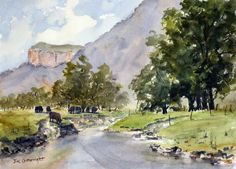 Plein air watercolor painting problems - how to solve them