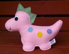 Felt Dinosaur, Toy Dinosaur, CE Tested, Soft Toy, Pink, Dino, Childrens Toy, Childrens Dinosaur, Toys for Boys, Stuffed Toys by DaisyFelts…