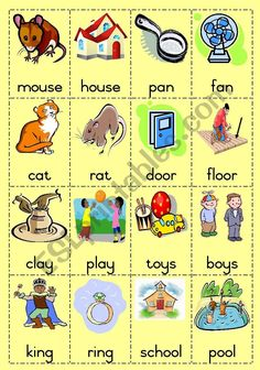 Part 1 of 16 sets of rhyming words. The picture as well as the word is on the card so it is useful for both young and older learners. Game can be played in groups where the cards are handed out. Learner has to find the word/picture that rhymes with his own one. Game can also be played individually. Pack the cards in groups that rhyme. FULLY EDITABLE. Print on card, laminate and cut out on the dotted lines. Page 2 as well as Domino game also uploaded today. Rhyming Words For Kids, Rhyming Word Game, Rhyming Worksheet, Shape Tracing Worksheets, Main Idea Worksheet, Rhyming Activities, Free Kindergarten Worksheets, Kindergarten Writing, Word Games