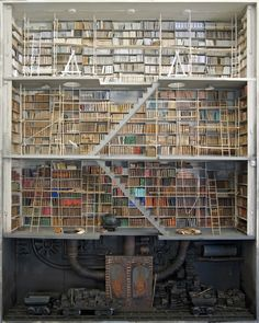 """Library as a Mine"" part of Marc Giai-Miniet's Miniature Room series."