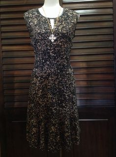 Nic+Zoe - Black and Tan print dress - $174