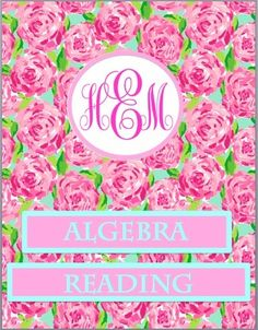 Lilly Pulitzer + Monogram binder covers!