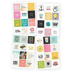 SIMPLE STORIES: Carpe Diem Insta Quote Stickers