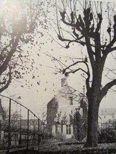 The inner garden of La Maison du Bailli, Cocteau's country house