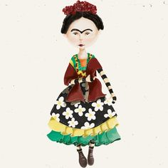 "Check out my @Behance project: ""Frida Doll"" https://www.behance.net/gallery/47066779/Frida-Doll"