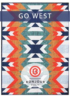 A downloadable PDF quilt pattern in three sizes: baby mat, lap, and twin. Go West is a lively modern quilt pattern, perfect for showcasing your fav...