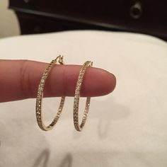 Bundle earrings and bangles  all are 14k Italy 14k Italy gold hoop earrings Italy Jewelry Earrings