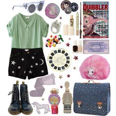 The Wizarding World: Luna Lovegood Grunge Style, Soft Grunge, Ravenclaw, Luna Lovegood Aesthetic, Harry Potter Kleidung, Shorts Negros, Hogwarts, Cool Outfits, Summer Outfits
