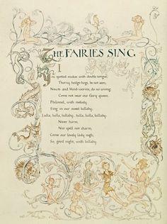 The Fairies Sing, from 'A Midsummer Night's Dream', 1908 Art Prints by Arthur Rackham - Magnolia Box
