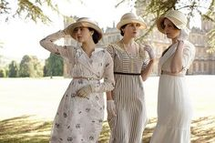 Can't get enough of the Downton fashion... love the day dresses, especially Mary's.